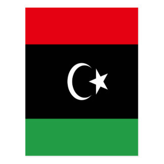 Low Cost! Libya Flag Postcard