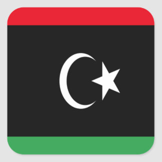 Low Cost! Libya Flag Square Sticker