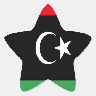 Low Cost! Libya Flag Star Sticker