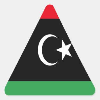 Low Cost! Libya Flag Triangle Sticker