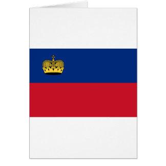 Low Cost! Liechtenstein Flag Card