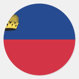 Low Cost! Liechtenstein Flag Classic Round Sticker