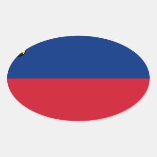 Low Cost! Liechtenstein Flag Oval Sticker