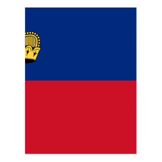 Low Cost! Liechtenstein Flag Postcard
