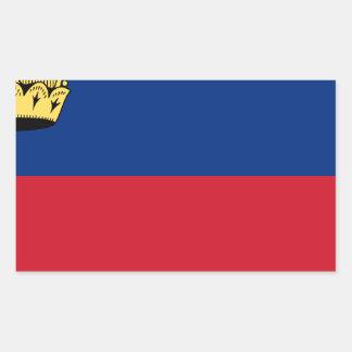 Low Cost! Liechtenstein Flag Rectangular Sticker