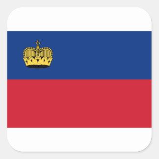 Low Cost! Liechtenstein Flag Square Sticker