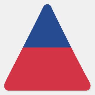 Low Cost! Liechtenstein Flag Triangle Sticker