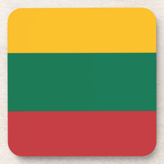 Low Cost! Lithuania Flag Coaster