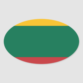 Low Cost! Lithuania Flag Oval Sticker