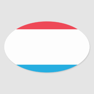 Low Cost! Luxembourg Flag Oval Sticker