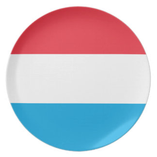 Low Cost! Luxembourg Flag Plate