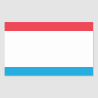Low Cost! Luxembourg Flag Rectangular Sticker
