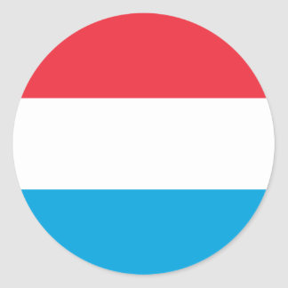 Low Cost! Luxembourg Flag Round Sticker