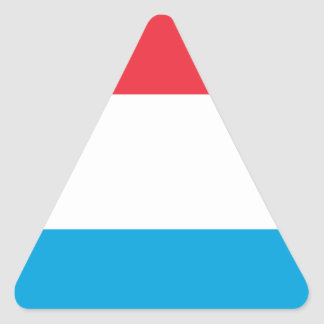 Low Cost! Luxembourg Flag Triangle Sticker