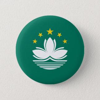 Low Cost! Macau Flag 6 Cm Round Badge
