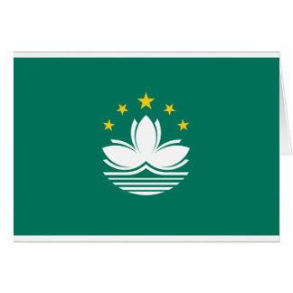 Low Cost! Macau Flag Card