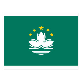 Low Cost! Macau Flag Postcard