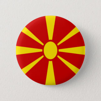 Low Cost! Macedonia Flag 6 Cm Round Badge
