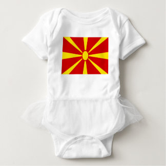 Low Cost! Macedonia Flag Baby Bodysuit