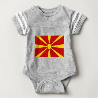 Low Cost! Macedonia Flag Baby Bodysuit