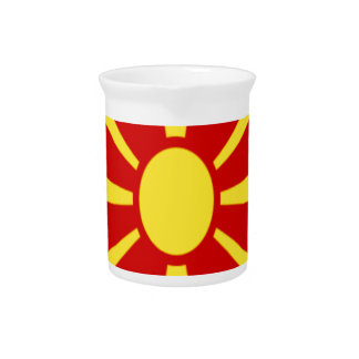 Low Cost! Macedonia Flag Pitcher