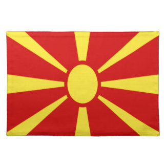 Low Cost! Macedonia Flag Placemat