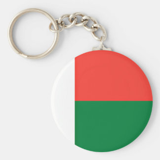 Low Cost! Madagascar Flag Basic Round Button Key Ring
