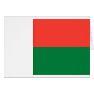 Low Cost! Madagascar Flag Card