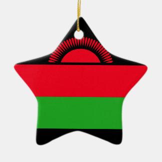 Low Cost! Malawi Flag Ceramic Ornament