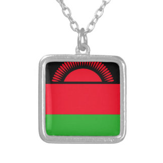 Low Cost! Malawi Flag Silver Plated Necklace