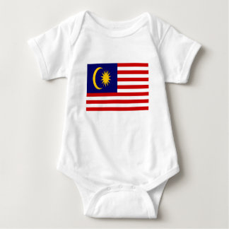 Low Cost! Malaysia Flag Baby Bodysuit