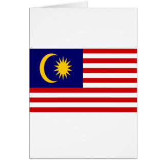 Low Cost! Malaysia Flag Card