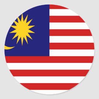 Low Cost! Malaysia Flag Classic Round Sticker