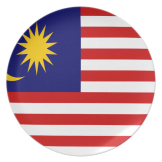 Low Cost! Malaysia Flag Plate
