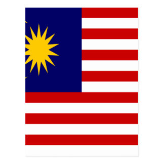 Low Cost! Malaysia Flag Postcard