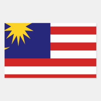 Low Cost! Malaysia Flag Rectangular Sticker