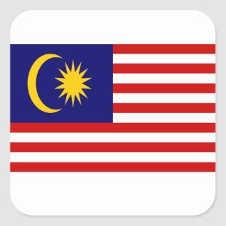 Low Cost! Malaysia Flag Square Sticker