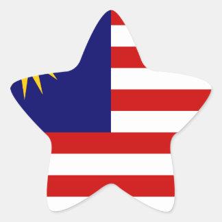 Low Cost! Malaysia Flag Star Sticker