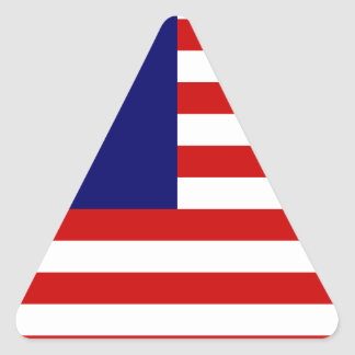 Low Cost! Malaysia Flag Triangle Sticker