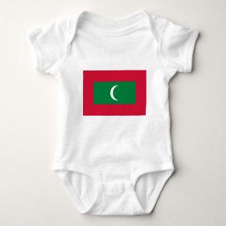 Low Cost! Maldives Flag Baby Bodysuit