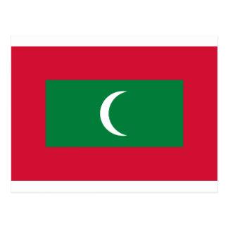 Low Cost! Maldives Flag Postcard