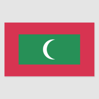 Low Cost! Maldives Flag Rectangular Sticker