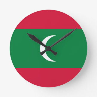 Low Cost! Maldives Flag Round Clock