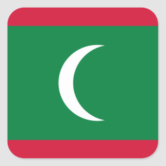 Low Cost! Maldives Flag Square Sticker