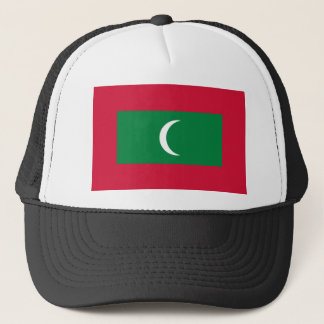 Low Cost! Maldives Flag Trucker Hat