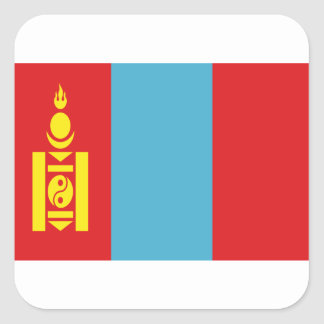 Low Cost! Mongolia Flag Square Sticker