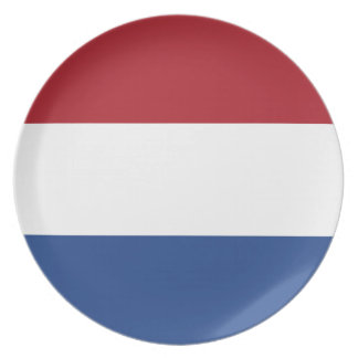 Low Cost! Netherlands Flag Plate