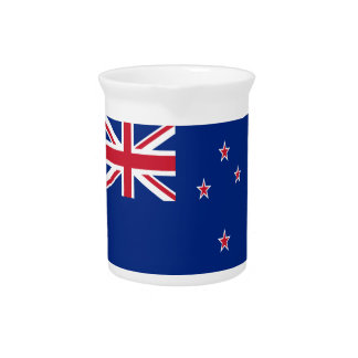 Low Cost! New Zealand Flag Pitcher
