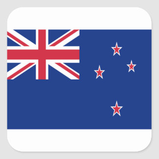 Low Cost! New Zealand Flag Square Sticker