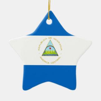 Low Cost! Nicaragua Flag Ceramic Ornament